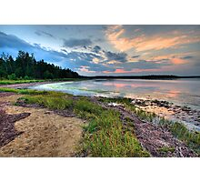 Sunset on the Salt Marsh Photographic Print