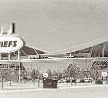 Arrowhead Stadium, Kansas City Chiefs, Tilt-Shift, Black and White by PhotosByTrish
