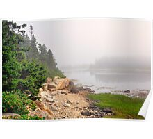 Fog, Schoodic Point, Acadia National Park, Schoodic Peninsula, Maine Poster
