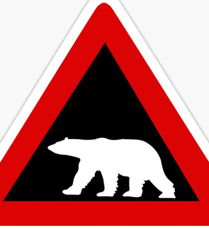Beware of Polar Bears, Traffic Sign, Norway Sticker