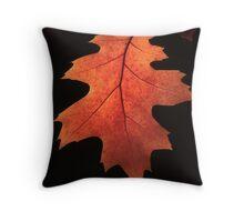 Fall Paints an Oak leaf Throw Pillow
