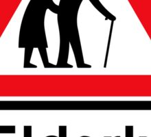 Elderly People, Traffic Sign, UK Sticker