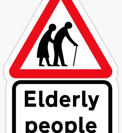 Elderly People, Traffic Sign, UK Sticker