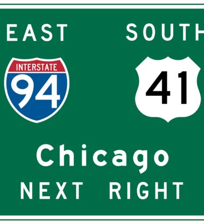 Chicago, IL Road Sign Sticker