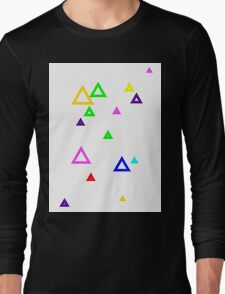 Colourful triangles Long Sleeve T-Shirt