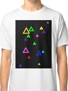 Colourful triangles on black Classic T-Shirt