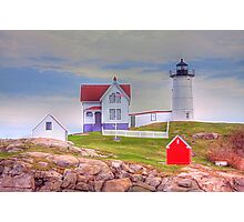 Cape Neddick Lighthouse or Nubble Light Photographic Print