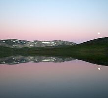 Storhaugvatnet - mountain lake reflections by Algot Kristoffer Peterson