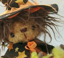 Eenie the Witchy Bear - Handmade bears from Teddy Bear Orphans Sticker