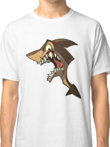 Angry brown shark with shading Classic T-Shirt