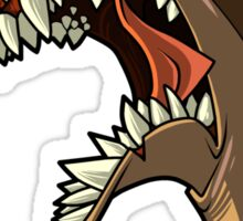 Angry brown shark with shading Sticker