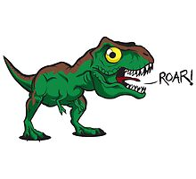 Tiny Cute Baby Trex by beanarts