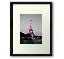 La Vie En Rose - Eiffel Tower in pink Framed Print