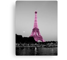 La Vie En Rose - Eiffel Tower in pink Canvas Print