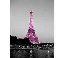La Vie En Rose - Eiffel Tower in pink Photographic Print