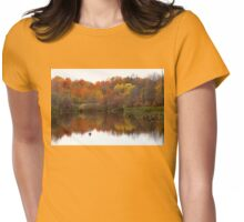 Autumn Serenity Womens Fitted T-Shirt