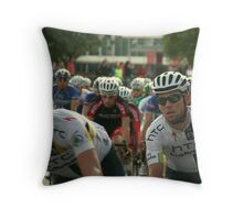 Mark Cavendish within the peloton Throw Pillow