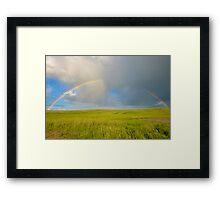 Prairie Rainbow Framed Print