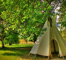 Teepee at Dunvegan by Michelle Burton
