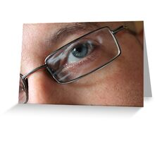 Through the eye of a lens  Greeting Card