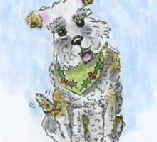wishing you a pawfect christmas Sticker