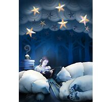 She Reads Them to Sleep Photographic Print