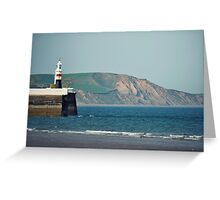 Ramsey Coastline - A View From The Pier Greeting Card