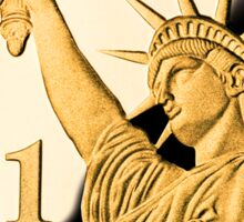 $1 Gold Coin Statue of Liberty Sticker Sticker