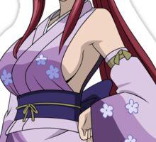 fairy tail erza scarlet my waifu is in fairy tail anime manga shirt Sticker