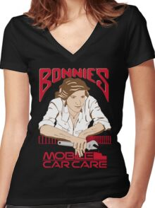 Bonnie's Mobile Car Care Women's Fitted V-Neck T-Shirt