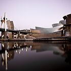 La Salve Bridge & The Guggenheim at Dusk by Karen Morecroft