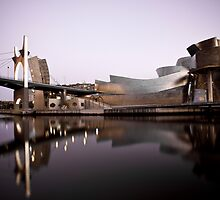 La Salve Bridge & The Guggenheim at Dusk by Karen Morecroft