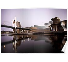 La Salve Bridge & The Guggenheim at Dusk Poster