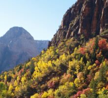 Autumn Colours in Zion Sticker