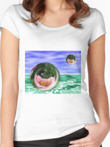 Flower Bubbles Women's Fitted Scoop T-Shirt