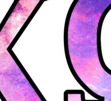 Chi Omega Galaxy Sticker