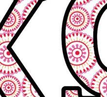 Chi Omega Pink Sticker
