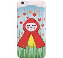 Happy Heart Rain Girl iPhone Case/Skin