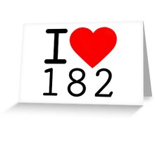 i heart one eight two. Greeting Card