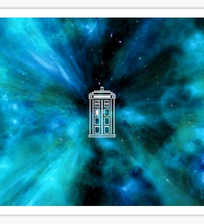 Tardis in Time and Space Sticker