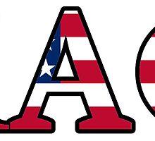Kappa Alpha Theta American Flag by Jason Levin