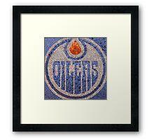 The Oilers - Bottle Cap Mosaic Framed Print