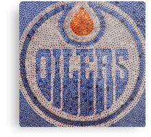 The Oilers - Bottle Cap Mosaic Metal Print