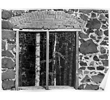 Delaware Mine Ruin window Poster