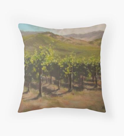 Vineyard Summer Throw Pillow