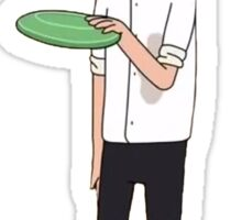 Rick and Morty-- Morty Frisbee Sticker