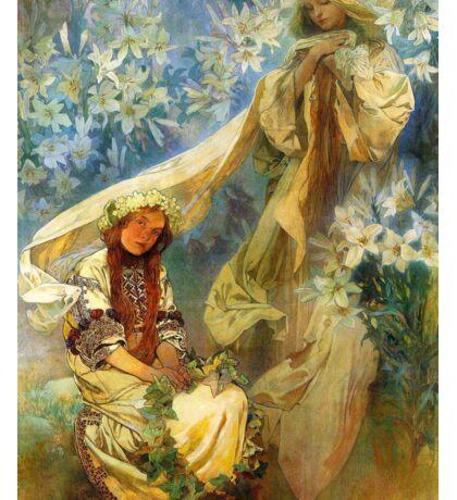 Alphonse Mucha - Madonna of the lilies Sticker