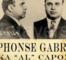 Al Capone Wanted Sticker