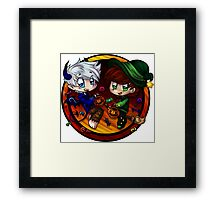 Trick or Treat Hiccup and Jack! Framed Print