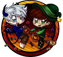 Trick or Treat Hiccup and Jack! Photographic Print